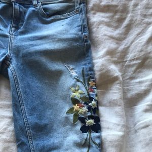 Zara Flower Print Jeans